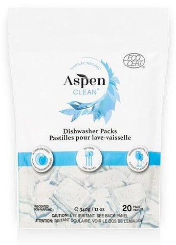 ASPEN CLEAN - Unscented Dishwasher Pods (20)