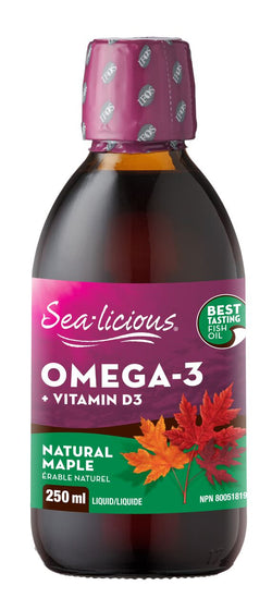 Sea-licious Omega-3 + D3 - Natural Maple - 2 Sizes