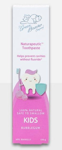 Green Beaver Naturapeutic Toothpaste - Kids Bubblegum 100g