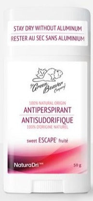 Green Beaver Antiperspirant - Escape (Fruity & Tropical Scent)