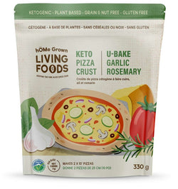 HOME GROWN U-BAKE KETO PIZZA CRUST GARLIC ROSEMARY (GF) (ORG) (VEGAN)