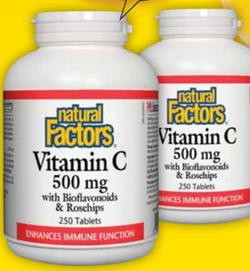 Vitamin C 500mg Plus Bioflavonoids & Rosehips FLYER BOGO 250+250