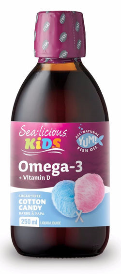 Sea-licious Kids Omega-3 + D3 - Cotton Candy - 2 SIZES