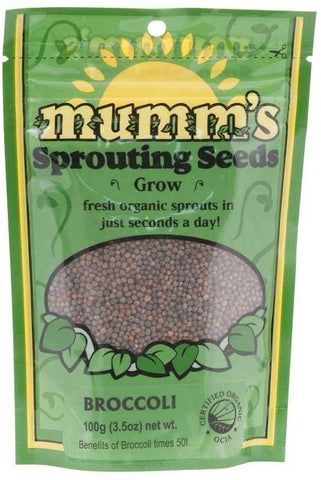 Mumm's Organic Sprouting Seeds - Broccoli