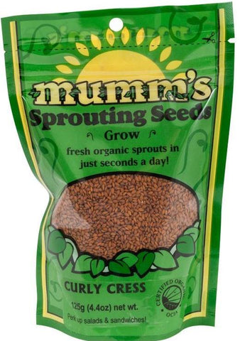 Mumm's Organic Sprouting Seeds - Curly Cress