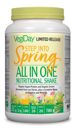 VegiDay Vegan Organic All In One Shake & Go Drink Mix - STEP INTO SPRING LIMITED RELEASE FLAVOUR