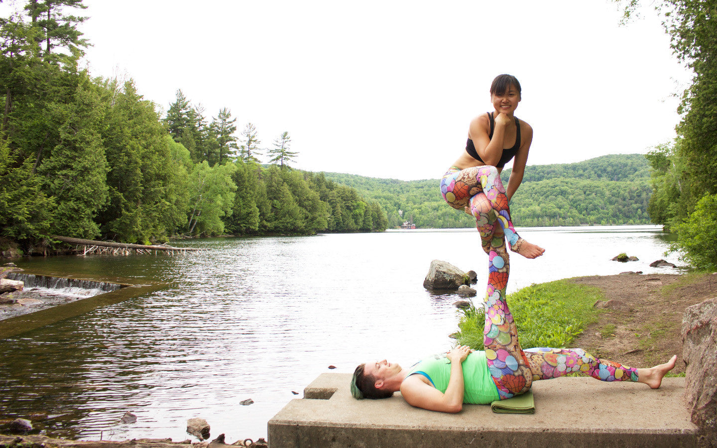 Acroyoga Pose - Thinker (Gatineau Park, just outside of Ottawa)