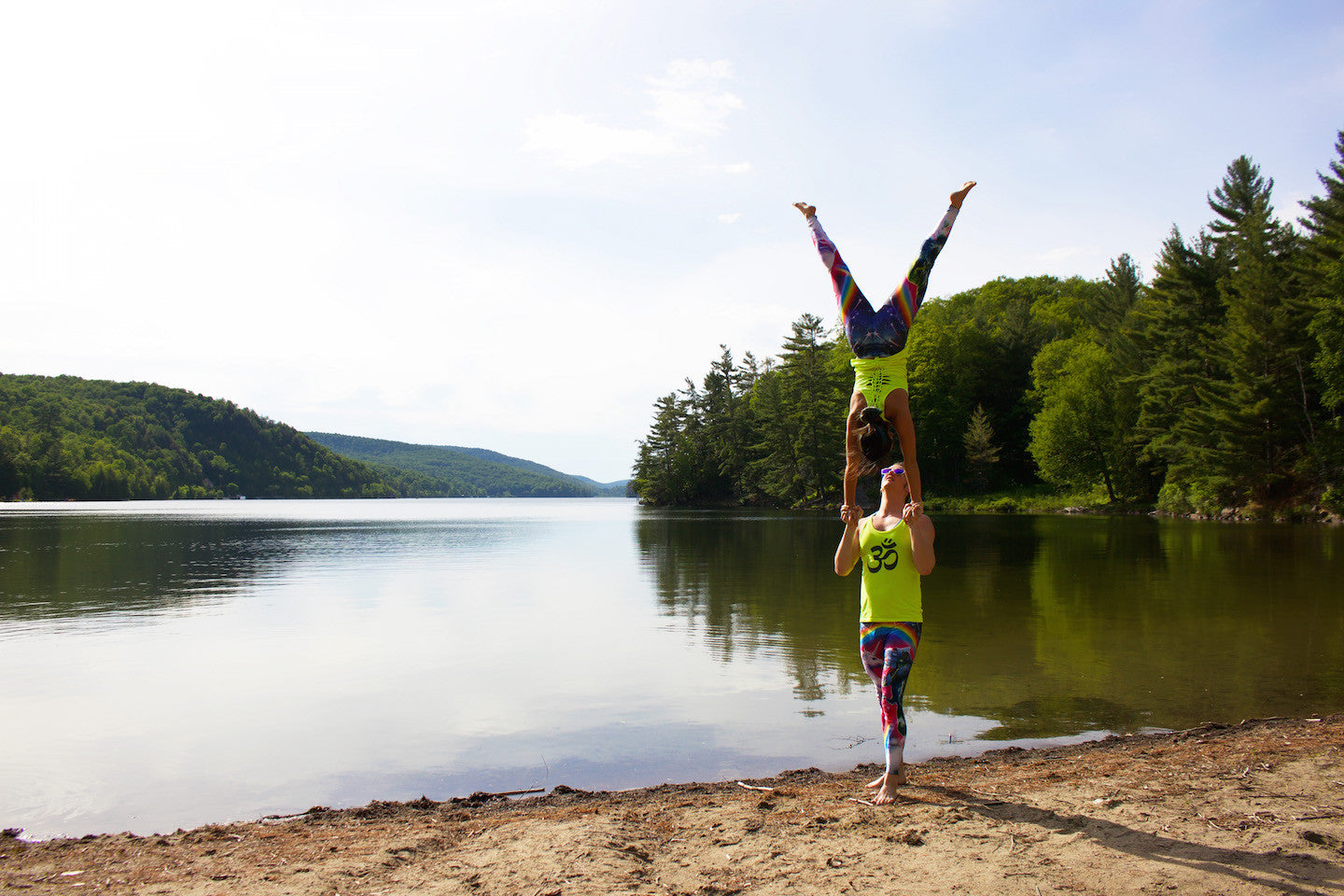Acrobatic Yoga Pose - Hand to Hand (Gatineau Park, just outside of Ottawa)
