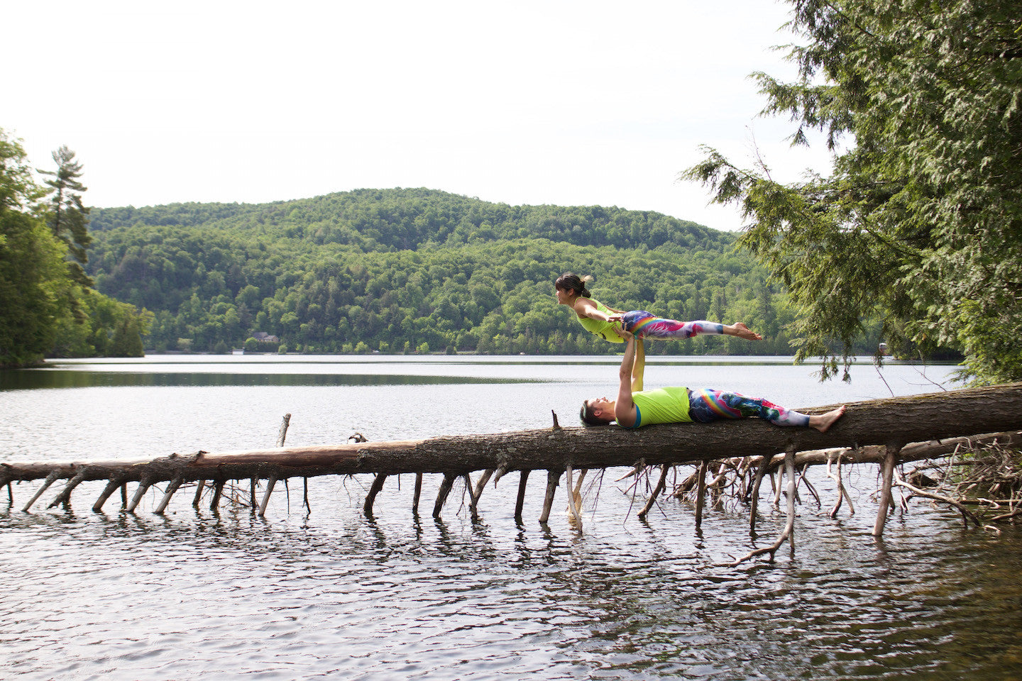 Acroyoga Pose - Low Bird (Gatineau Park, just outside of Ottawa)