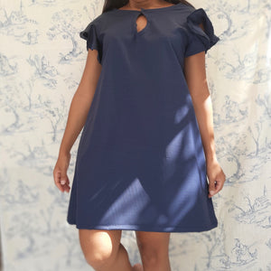 Robe mini simple bleue - Morphée Sialamno Réunion