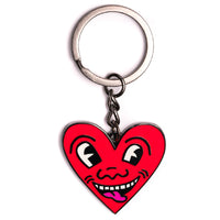 Keith Haring - Heart Face Keychain