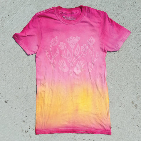 Ombre Tie dye with Bloom Design