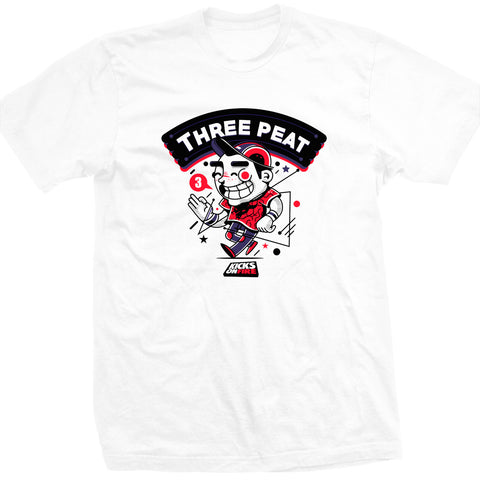 KicksOnFire Three Peat T-Shirt - White (Limited Offer)