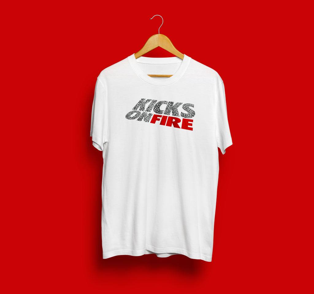 KicksOnFire T-Shirt - White / Cement Grey (Limited Offer)