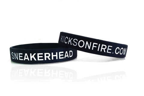 Sneakerhead / KicksOnFire Wristbands - Black (Pack of 3)