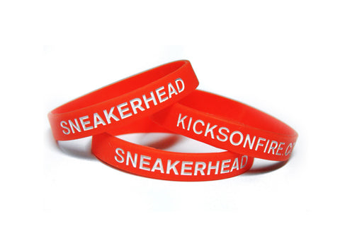 Sneakerhead / KicksOnFire Wristbands - Red (Pack of 3)