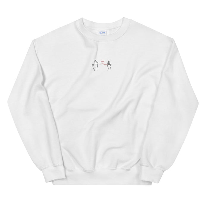Embroidery Heart Sweatshirt