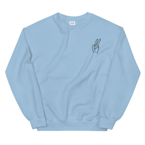 Embroidery Peace Sweatshirt