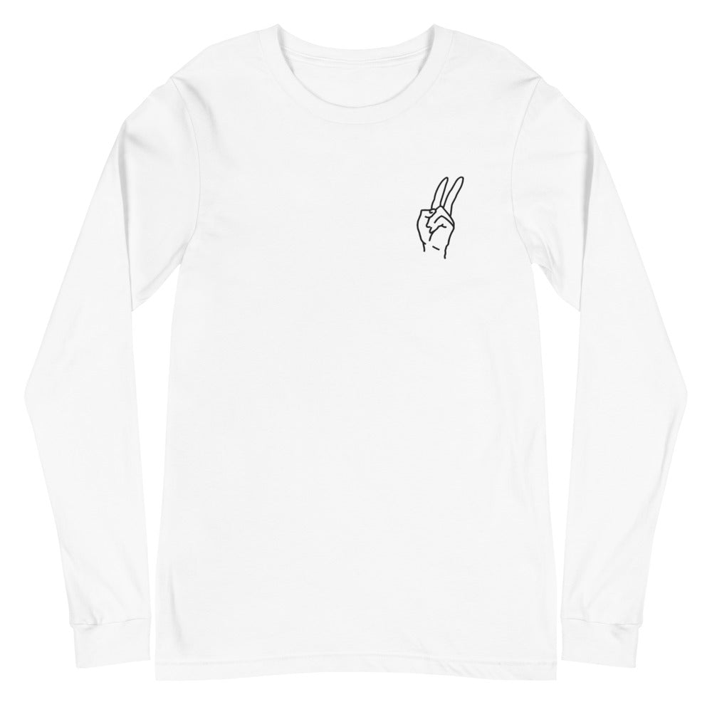 Embroidery Peace Long-Sleeve