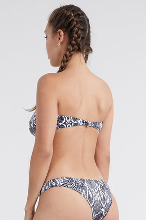 Load image into Gallery viewer, Snake Print Bandeau top bikini set