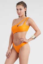 Orange One Shoulder One piece Swimsuit