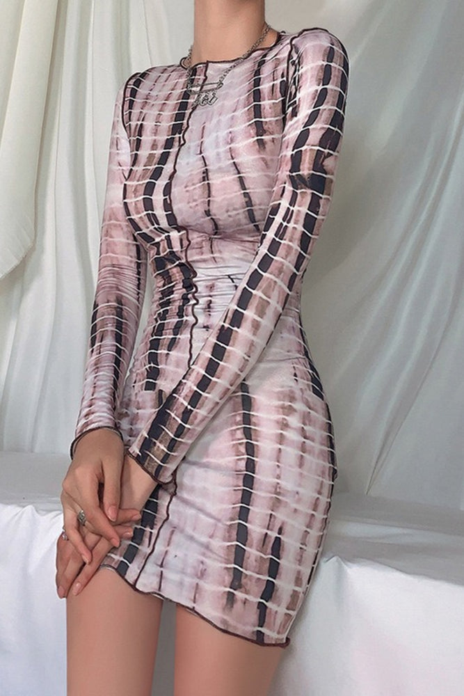 Load image into Gallery viewer, Long Sleeve Tie dye dress