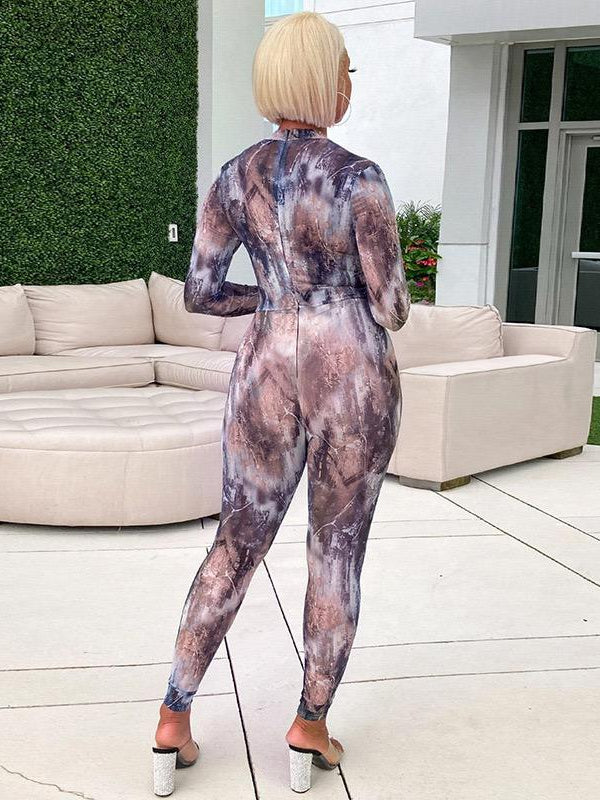 Load image into Gallery viewer, Tie Dye Smooth Full Pant Bodysuit