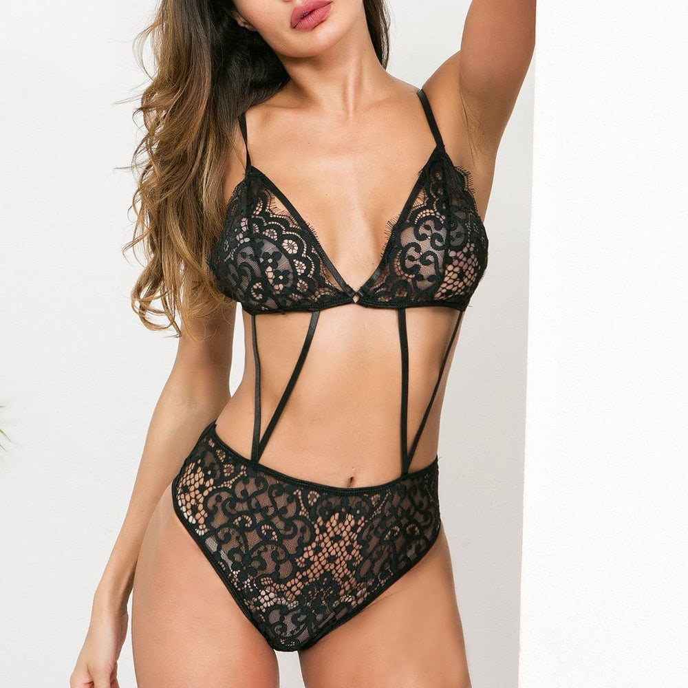 Lacey bra and panty set one piece Lingerie