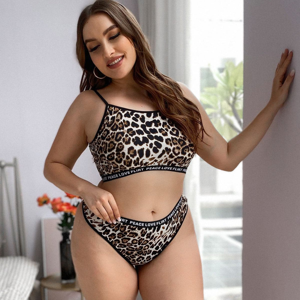 Load image into Gallery viewer, Leopard Print Panty Set