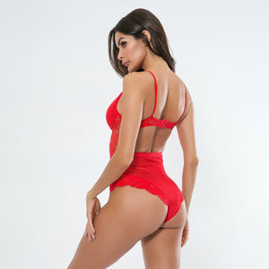 Sexy Red Bodysuit