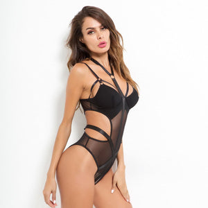 Load image into Gallery viewer, Strapped Neck Ribbon Straps Bodysuit