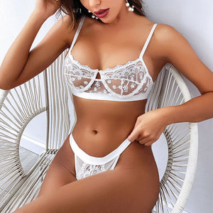 Load image into Gallery viewer, Polka lace Bralette set