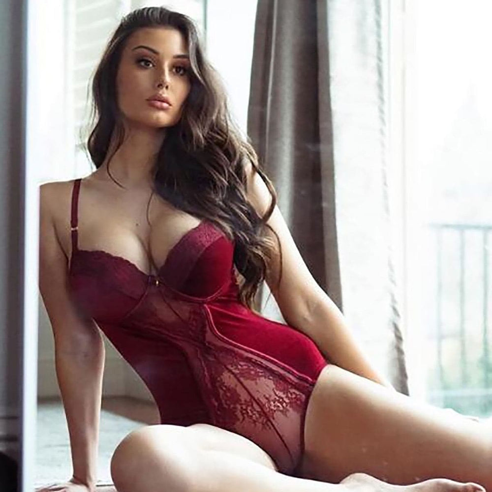 Velvet cup lace Teddy