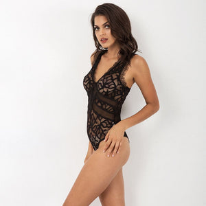 Strappy Neck Lace Teddy