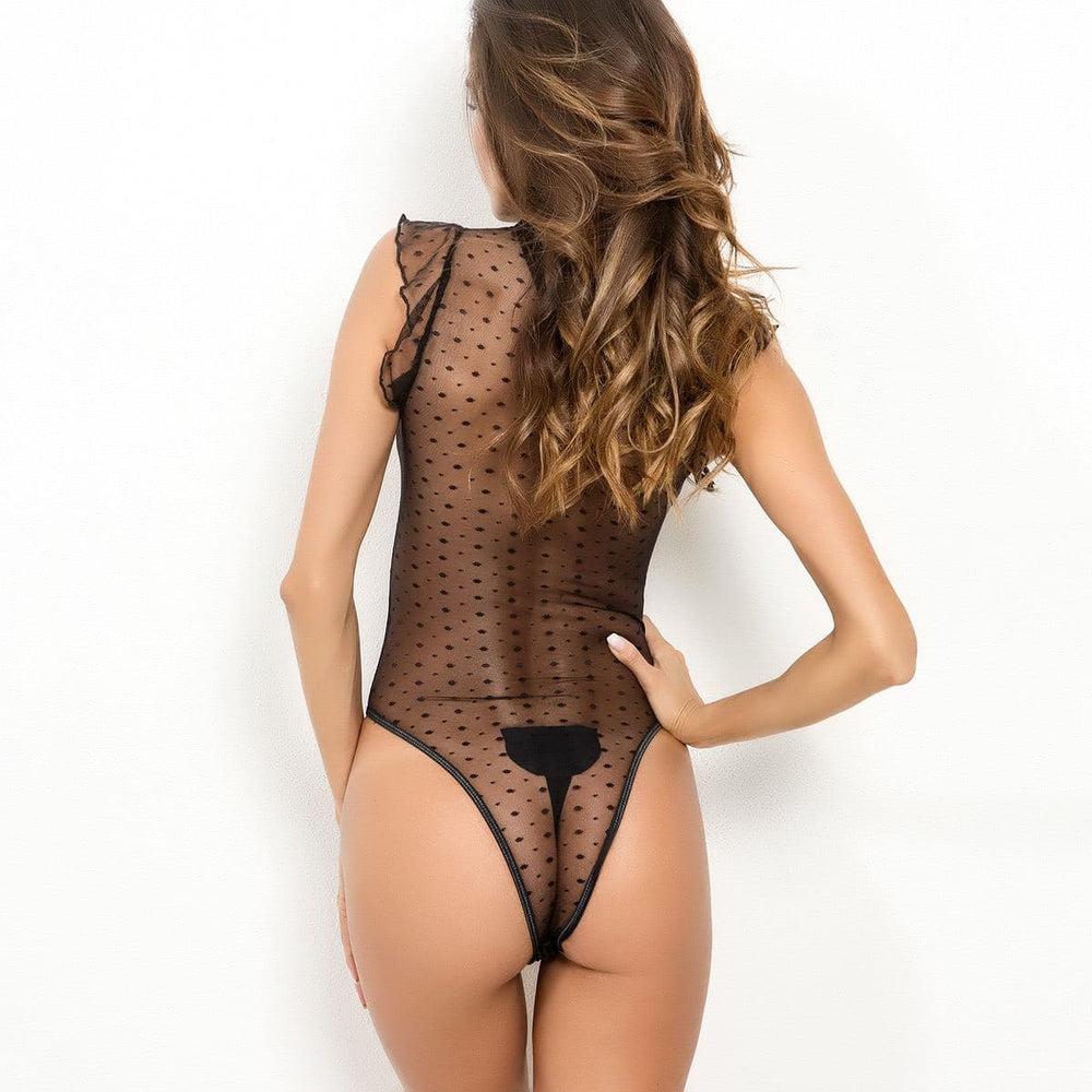 Polka Dot Lace Bodysuit