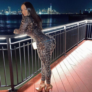 Long sleeve Croc Pattern Catsuit