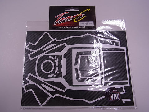 Team C Carbon Design Sticker 4PX TC1040