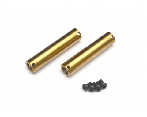 BoomRacing Kronik Axle Tubes Stainless Steel For SCX10 (2) Gold BR233025GD