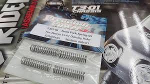 Premium Power Front Fork Spring Set /'Soft (Black) Medium (Silver)/' For Tamiya T3-01 T301-06