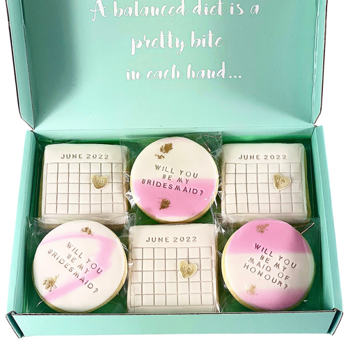 Bridal proposal cookie box
