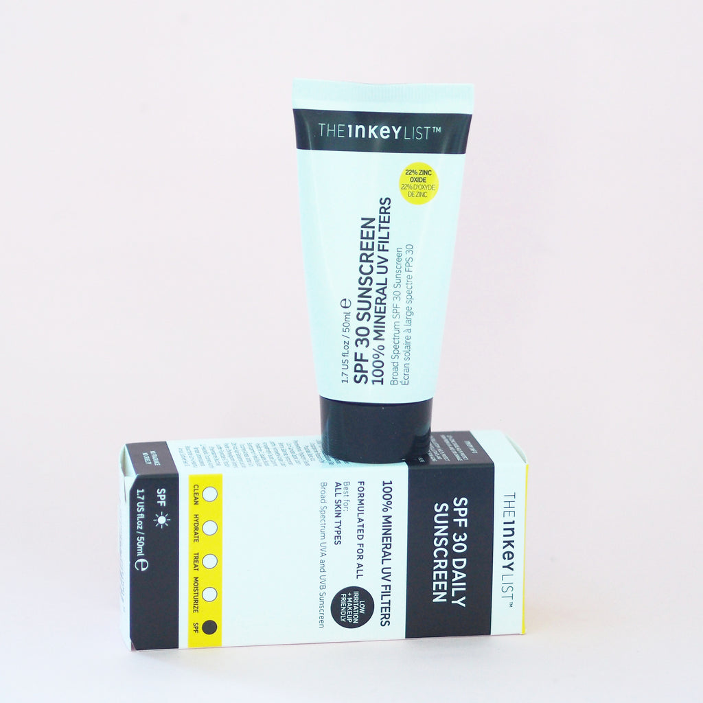 SPF 30 Sunscreen 100% Mineral UV Filters