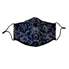 Load image into Gallery viewer, 3-Layer Reusable Face Mask - Blue Camo