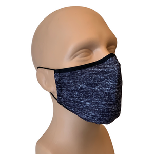 3-Layer Reusable Face Mask - Heather Carbon - 3 PACK