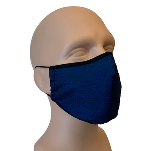 3-Layer Reusable Face Mask - Heather Navy - 3 PACK
