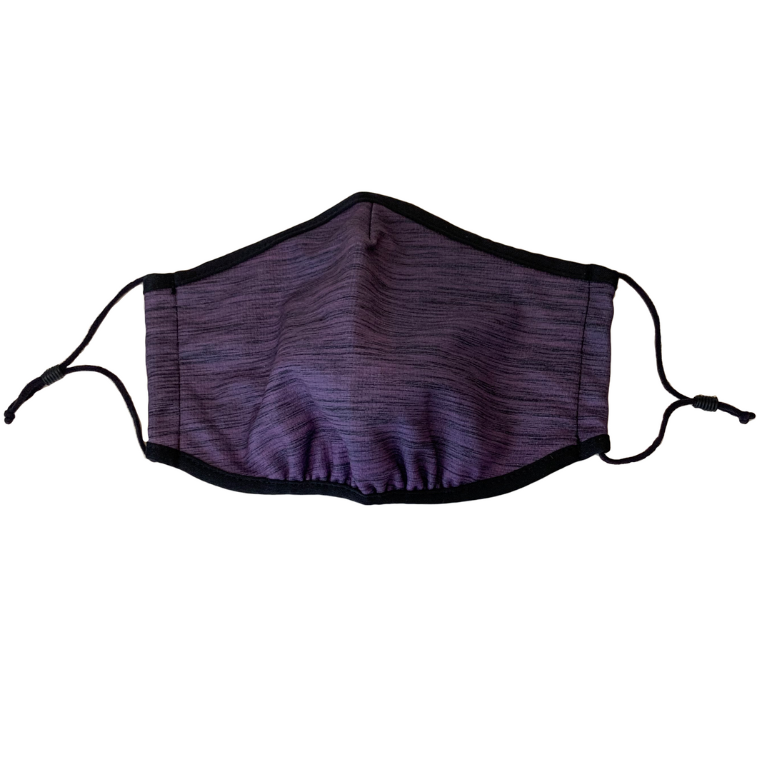 3-Layer Reusable Face Mask - Heather Purple