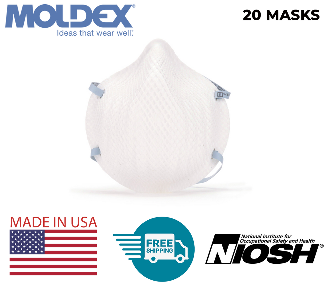 Moldex 2200 N95 Particulate Respirator | Size: M/L | MADE IN USA | FREE 2-DAY SHIPPING