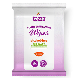 TAZZA® Alcohol-Free Hand Sanitizing Wipes (In 20 Count Resealable Packets) | 64 PACK CARTON