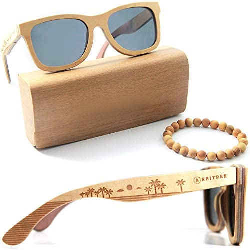 Wood Sunglasses for Men and Women. 100% Maple Wood