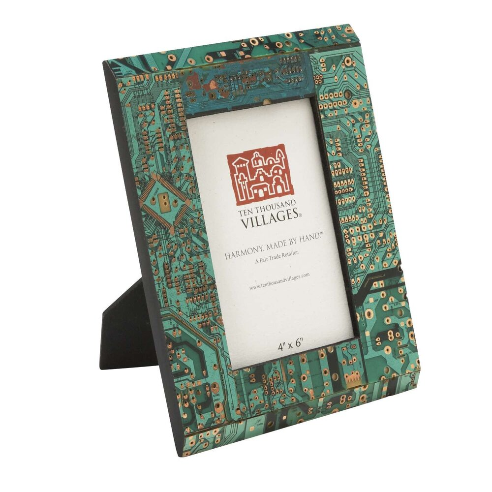 Upcycled Circuit Board Picture Frame