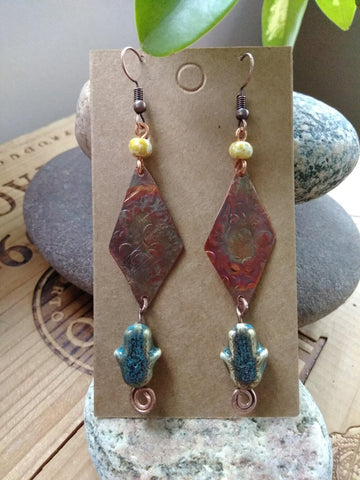 Upcycled Earrings Style 6
